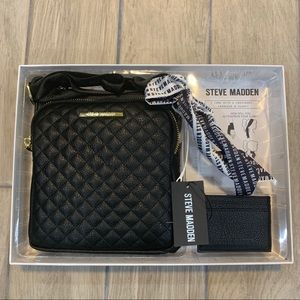 Steve Madden Crossbody, Cardcase & Scarf Set